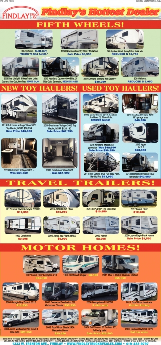 Fifth Wheels! - Travel Trailers!