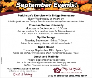 September Events!