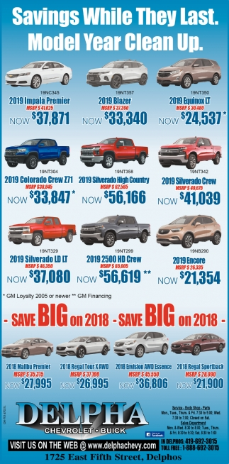 Savings While They Last. Model Year Clean Up