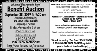 Benefit Auction September 28