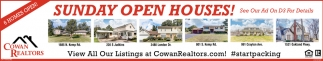 Sunday Open Houses!