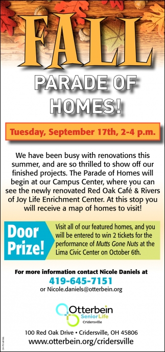 Fall - Parade of Homes - September 17th