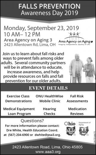 Falls Prevention - Awareness Day 2019 - September 23