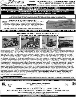 Public Auction -October 4th