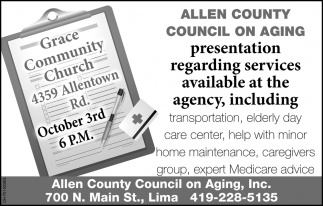 Presentation Regarding Services Available at the Agency