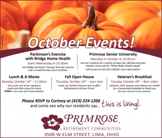 October Events!