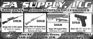 Firearms ~ Ammunition ~ Accesories