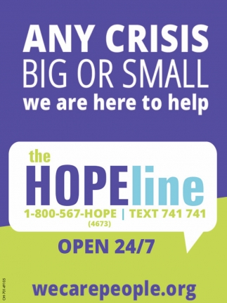 Any Crisis Big or Small we are here to help