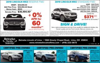 2019 Lincoln Mkz | 2019 Lincoln MKC