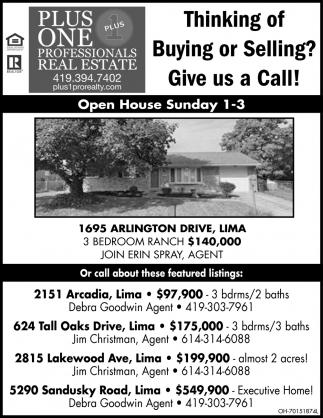 Open House - 1695 Arlington Drive Lima