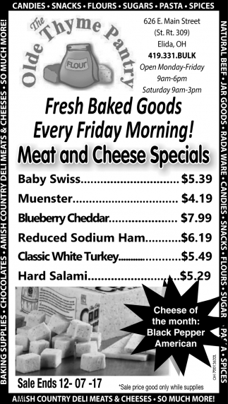 Meat and Cheese Specials