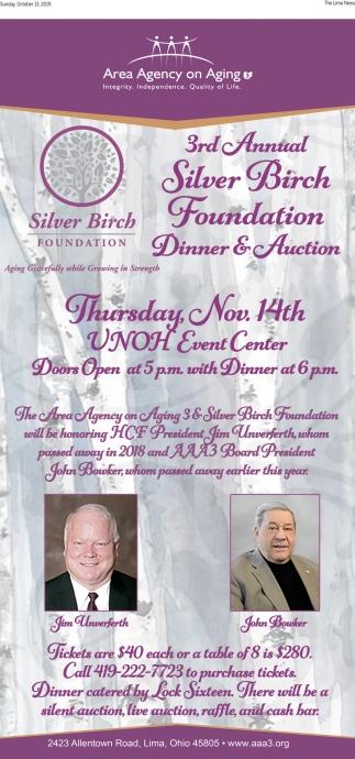 3rd Annual Silver Birch Foundation Dinner & Auction