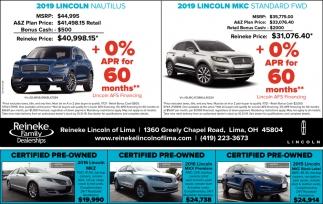 2019 Lincoln Nautilus | 2019 Lincoln MKC
