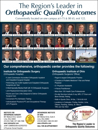 The Region's Leader in Orthopaedic Quality Outcomes
