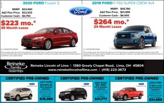 2020 Ford Fusion S | 2019 Ford F-150 Super Crew 4x4