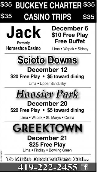 Buckeye Charter, Casino Trips