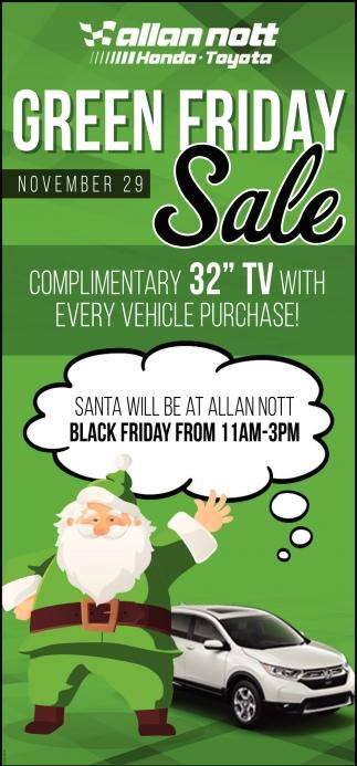 Green Friday Sale - November 19