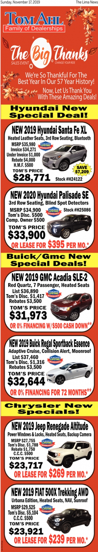 Hyundai New Sepecial Deal!