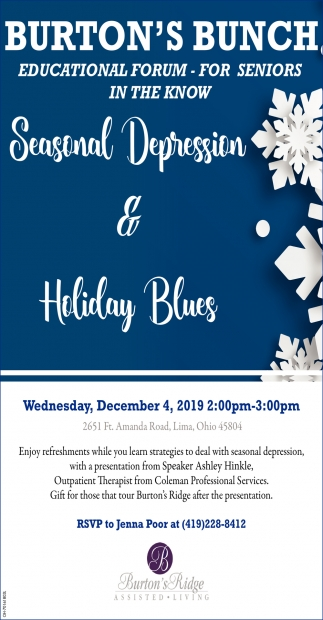 Educational Forum - Seasonal Depression & Holiday Blues