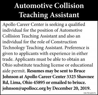 Automotive Collision Teaching Assistant
