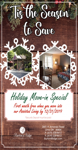 Holiday Move-in Special