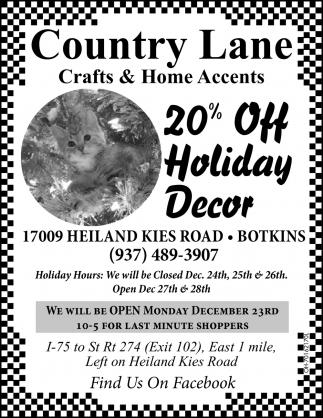 %20 Off Holiday Decor