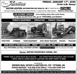 Public Auction - January 17th