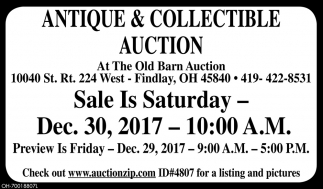 Antique & Collectible Auction