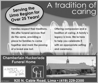 Serving the Lima Region for Over 25 Years