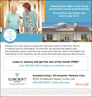 Lease in January and get the rest of the month Free!