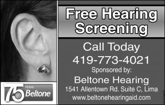 Free Hearing Screenig