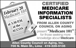 Certified Medicare Informarion Specialists