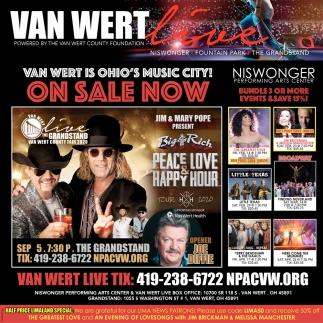 Van Wert is Ohio's Music City!