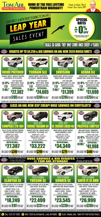 Leap Year - Sales Event