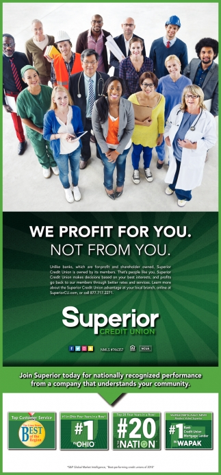 We Profit For You. Not From You