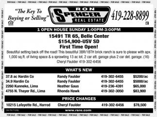 Open House - 15491 TR 65, Belle Center