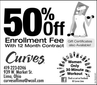 50% Off Enrollment Fee with 12 month contract