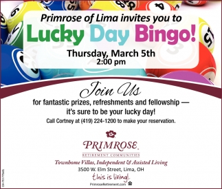 Lucky Day Bingo! March 5th