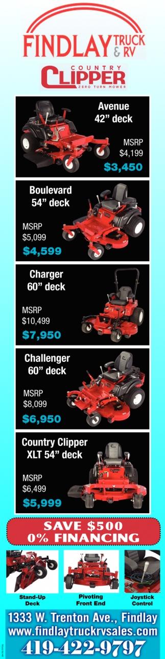 Country Clipper - Zero Turn Mower