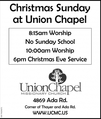Christmas Sunday at Union Chapel