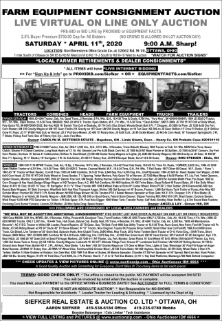 Farm Equipment Consignment Auction - March 28th