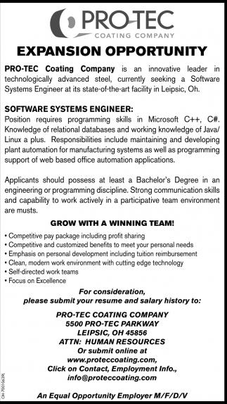Software Systems Engineer
