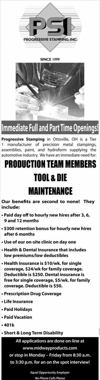 Production / Maintenance