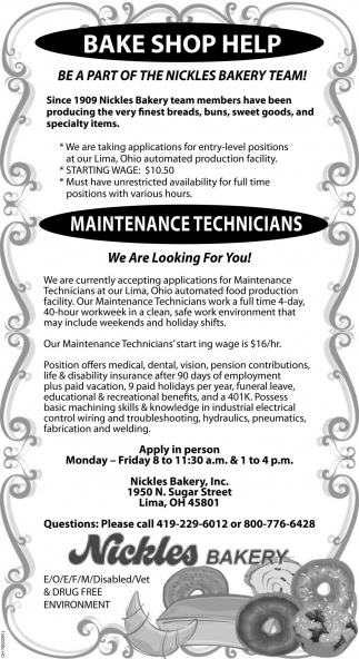 Maintenance Technicians