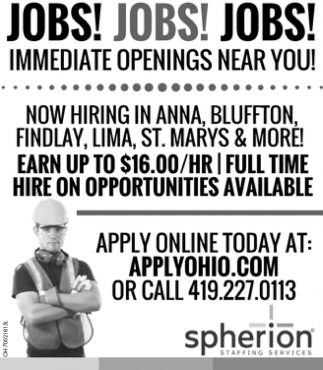 Immediate Openings Near You!