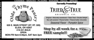 Stop by all week for a FREE sample
