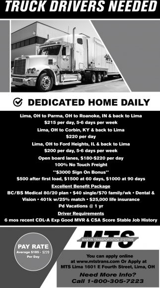 Truck Drivers Needed