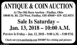 Antique & Coin Auction