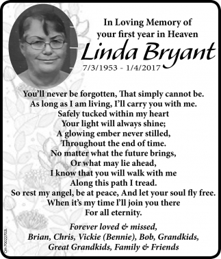 In Loving Memory of Linda Bryant