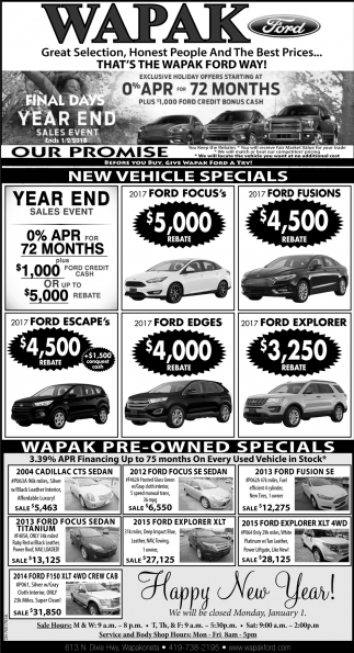 Final Days Year End Sales Event